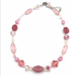 Lia Sophia Pink Pearl Beaded Necklace